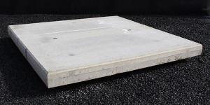 Gebezemde betonplaten