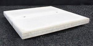Gladde betonplaten