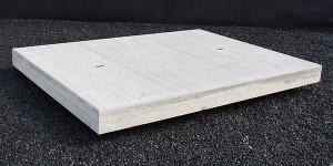 Gebezemd structuur betonplaten