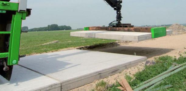 Kavelpad betonplaten